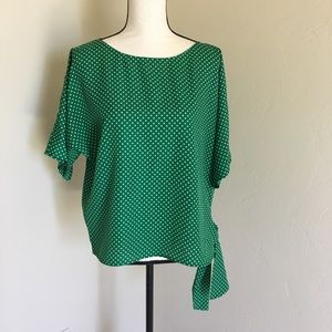 Micheal Kors Green And Mint Top
